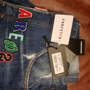 Dsquared2 D2 Embroidery Medium Patch Shadow Cool Guy Jeans